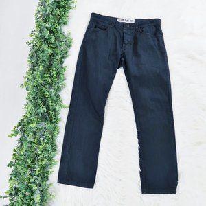 21 Men Forever 21 Straight Slim Black Jeans 32